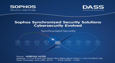 """Chương trình """"Sophos Synchronized Security Solutions – Cybersecurity Evolved"""" ngày 20.06.2019"""
